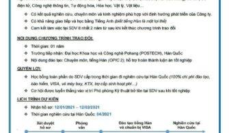 Thông báo tuyển dụng học bổng NCS và TS từ Samsung Display Vietnam