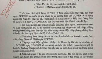 Về việc phòng chống dịch COVID-19