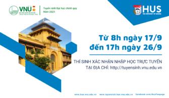Hướng dẫn xác nhận nhập học trực tuyến của ĐHQGHN năm 2021
